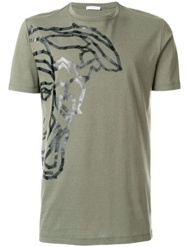 Half Medusa Print T Shirt by Versace Collection