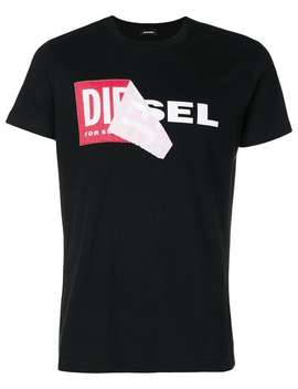 Layered Logo Print T Shirt by Diesel