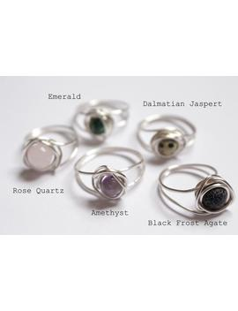 Unique Made To Order Wire Wrapped Rings Gem Stone by Etsy