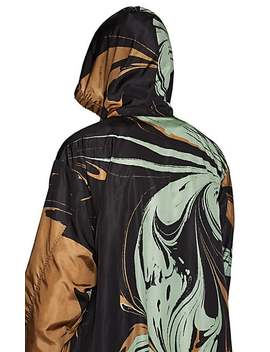Swirl Print Tech Taffeta Long Anorak by Dries Van Noten