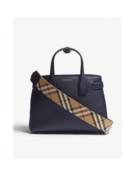 Banner Small Grained Leather Tote by Burberry