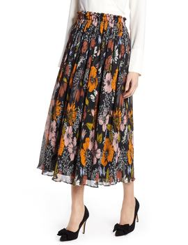 X Atlantic Pacific Crinkle Midi Skirt by Halogen®