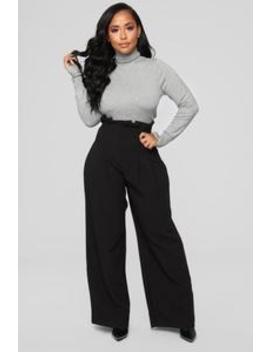 Let's Keep It Simple Pants   Black by Fashion Nova