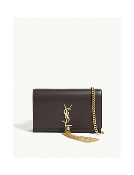 Monogram Kate Leather Wallet On Chain by Saint Laurent