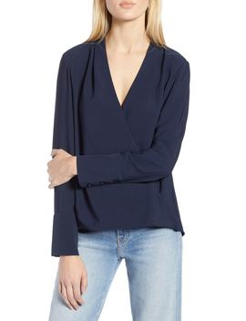 X Atlantic Pacific Wrap Blouse by Halogen®