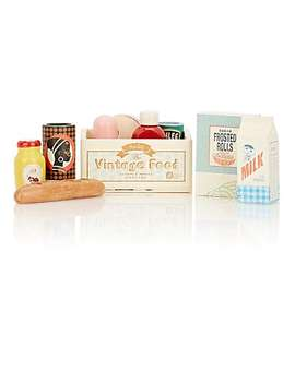 """Vintage Food In Grocery"" Box by Maileg"