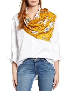 Floral Print Silk Twill Scarf by Halogen®