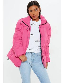 Pink Ultimate Oversized Padded Jacket by Missguided