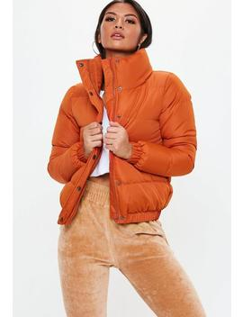 Orange Puffer Jacket by Missguided