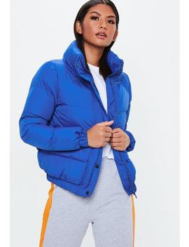 Blue Puffer Jacket by Missguided