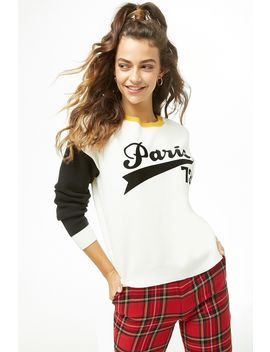 Paris Graphic Sweater by Forever 21