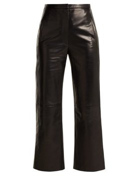 Roxanne Straight Leg Leather Trousers by Khaite