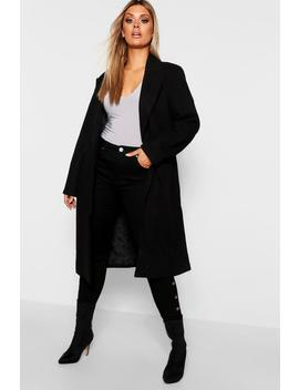 Plus Daisy Longline Formal Coat by Boohoo