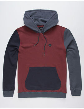 Rvca Ruddy Bordeaux Mens Hoodie by Rvca