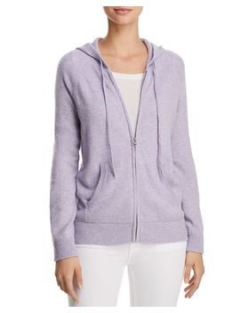 Zip Front Cashmere Hoodie   100 Percents Exclusive by Aqua Cashmere