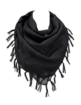 """100 Percents Cotton Military Shemagh Arab Tactical Desert Keffiyeh Thickened Scarf Wrap For Women And Men 43""""X43"""" by Vochic"""