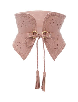 Wide Corset Leather Belt by Zimmermann