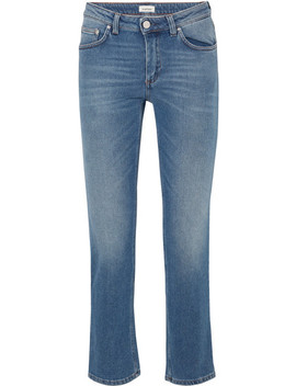 Cropped Mid Rise Straight Leg Jeans by Totême