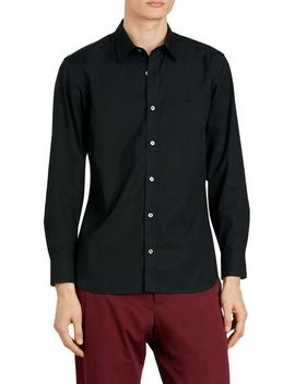 William Stretch Poplin Sport Shirt by Burberry