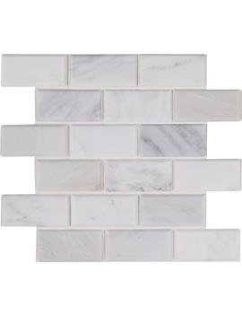 Arabescato Carrara 12 In. X 12 In. X 20mm Honed Marble Mesh Mounted Mosaic Tile (10 Sq. Ft. / Case) by Msi