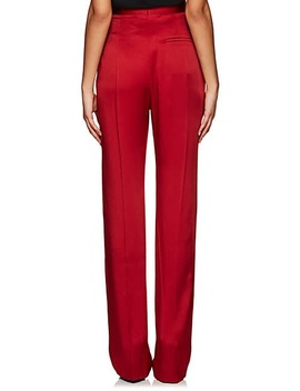 Washed Satin High Waist Trousers by Haider Ackermann