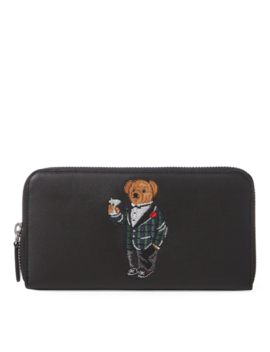 Polo Bear Leather Zip Wallet by Ralph Lauren
