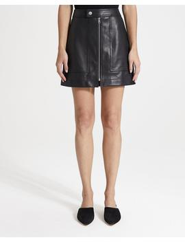 Leather City Mini Skirt by Theory