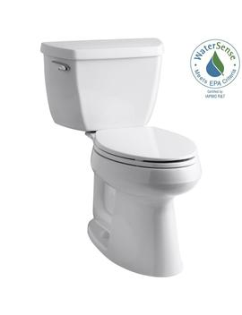 Highline Classic The Complete Solution 2 Piece 1.28 Gpf Single Flush Elongated Toilet In White, Seat Included by Kohler