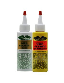 Wild Growth Hair Oil+Light Oil Moisturizer 4 Oz Duo by Wild Growth