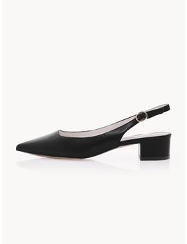 Kylie Slingback Heels   Black by Pomelo