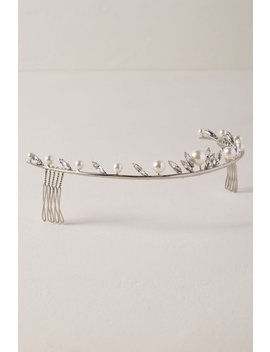 Heart Crystal Pearl Comb by Bhldn