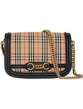 Vintage Check Link Flap Crossbody Bag by Burberry