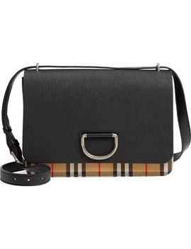 Medium D Ring Vintage Check & Leather Crossbody Bag by Burberry