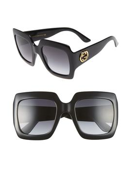 54mm Square Sunglasses by Gucci