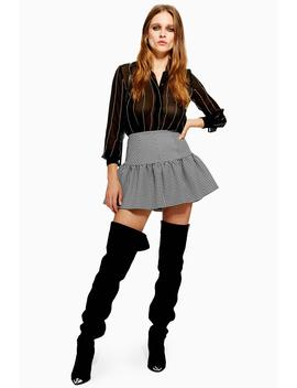 Houndstooth Mix Mini Skirt by Topshop