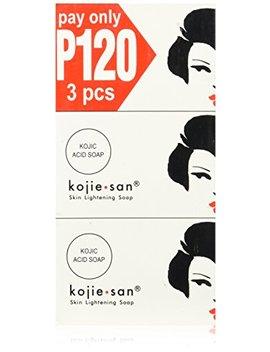 Kojie San Skin Lightening Soap 3 Pack, 3x100 Grams By Kojie San by Kojie San
