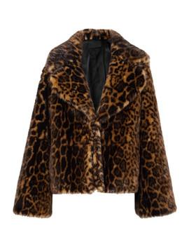 Sedella Leopard Print Faux Fur Coat by Nili Lotan