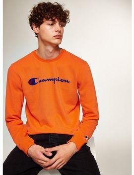 Champion Orange 'corporate' Sweatshirt by Topman