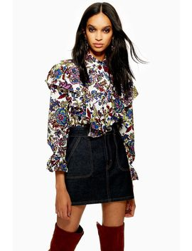 Floral Ruffle Blouse by Topshop