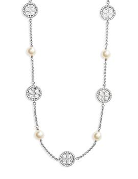 Crystal & Imitation Pearl Necklace by Tory Burch