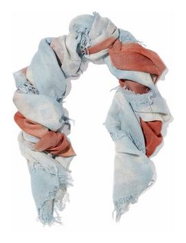 Fringed Printed Cashmere And Silk Blend Gauze Scarf by Chan Luu