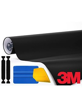 3 M 1080 Satin Black Air Release Vinyl Wrap Roll Including Toolkit (1ft X 5ft) by 3 M