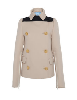Double Breasted Gabardine Wool Jacket by Prada