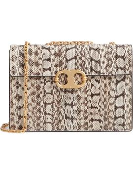 Medium Gemini Link Genuine Snakeskin Shoulder Bag by Tory Burch