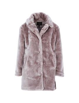 Lilac Faux Fur Teddy Coat by Qed London