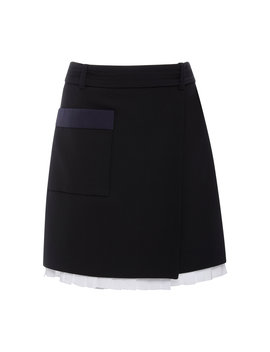 D Ring Wrap Mini Skirt by Victoria Victoria Beckham