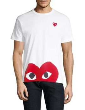 Bottom Heart Tee by Comme Des Garcons Play
