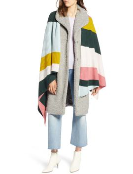 X Atlantic Pacific Stripe Cashmere Wrap by Halogen®