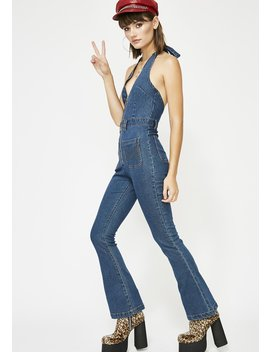 Saturday Night Fever Denim Jumpsuit by Banjul