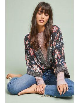Floral Silk Jacket Kimono by Kachel